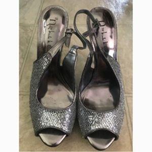 N By Nicole Miller Glitter Stiletto Heels Size 7